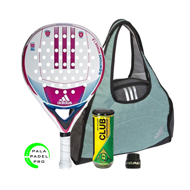 PACK: PALA ADIDAS SUPERNOVA + BOLSO ADIDAS WEEKEND BAG GREEN 1.8