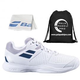 ZAPATILLAS BABOLAT PULSION WHITE/ESTATE BLUE 30S21346